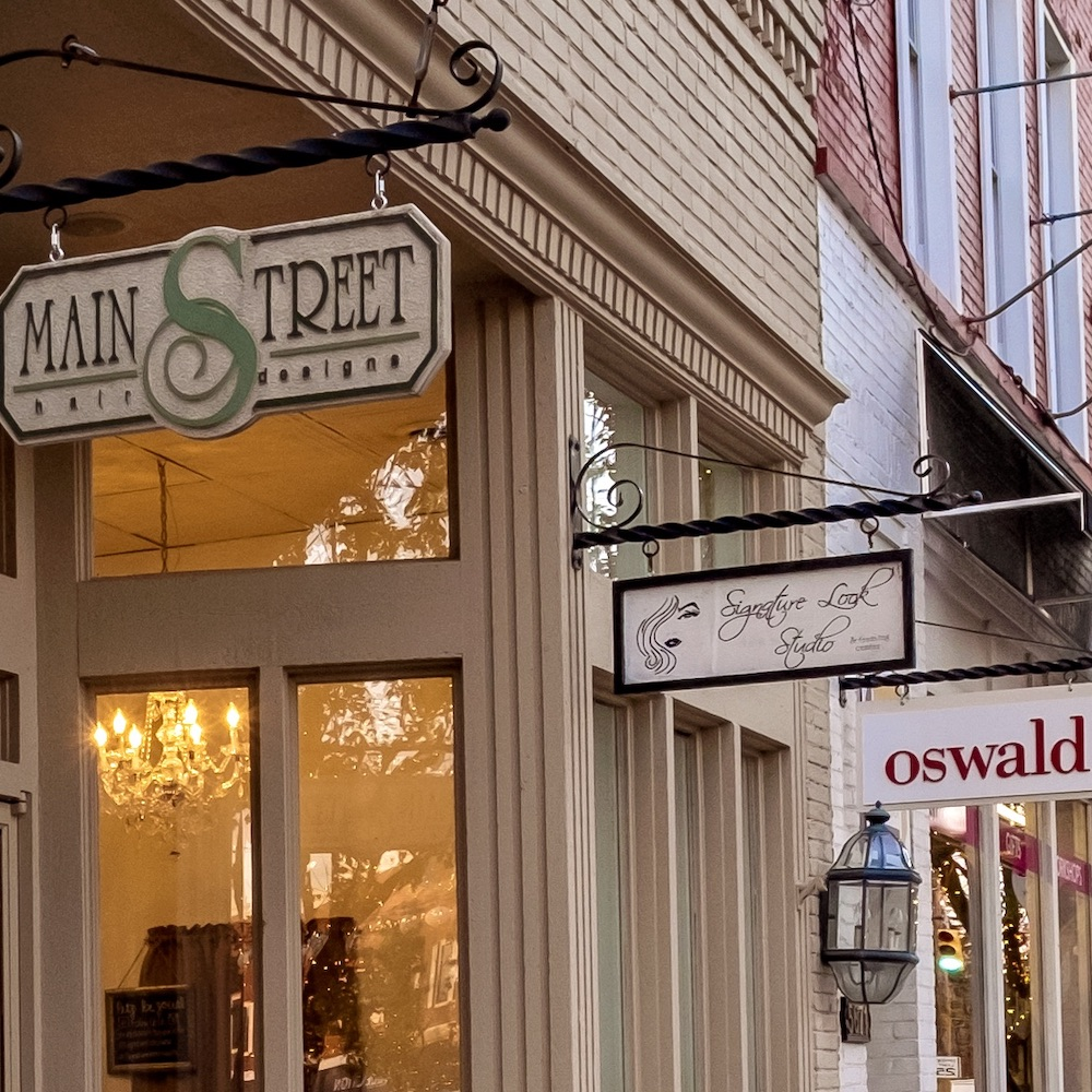 Main Street Business Signs